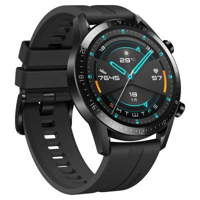 华为/HUAWEI WATCH GT2 (46mm)适用Mate 30强劲续航专业智能手表手环运动防水通话音乐麒麟芯片 运动版 -曜石黑
