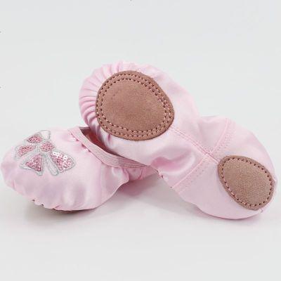 杰希洛舞蹈鞋儿童女软底练功鞋女童猫爪鞋帆布跳舞鞋芭蕾形体舞鞋