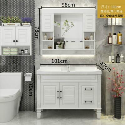 小戶型浴室柜 洗臉池盆柜組合衛生間洗漱臺洗手池洗面盆組合一體柜洗手臺盆柜組合落地式