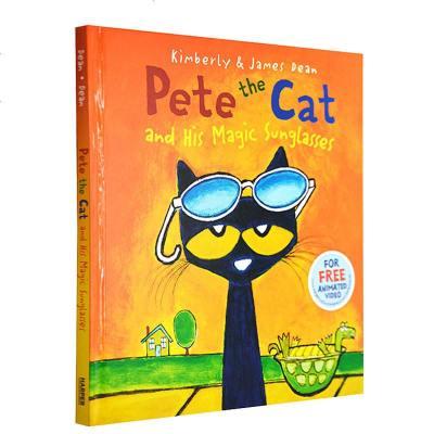 英文原版繪本 皮特貓系列 Pete the Cat and His Magic Sunglasses 精裝兒童故事圖