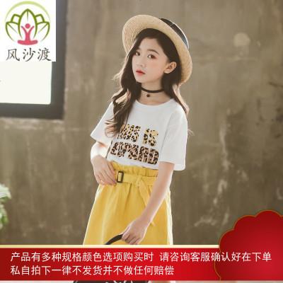 女童洋气短袖t恤夏装韩版儿童中大童时尚洋气百搭上衣潮图片件数为展示