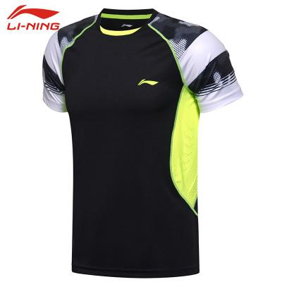 李寧羽毛球服 舒適吸汗速干比賽訓練服 AAYM021-2 男款 黑色