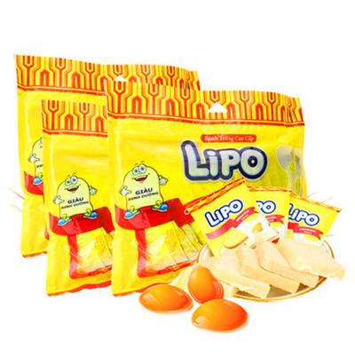 Lipo 奶油鸡蛋面包干300gx3袋 利葡代餐饼干越南进口零食品