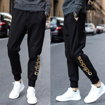 Adidas阿迪達斯褲子男2020夏季新款潮流男褲運動褲收口修身長褲男褲EI4734