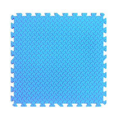 明德樹葉紋泡沫地墊拼接兒童爬行墊臥室客廳鋪地板墊榻榻米墊子防滑墊大號加厚(藍色1片)60*60*1.2cm