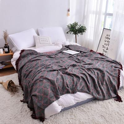 Bigan簡約時尚竹纖維蓋毯夏被單人夏季毛巾毯蓋被雙人50%竹纖維+50%全棉毛巾被