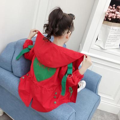 女童外套春秋2019新款韓版春季童女孩洋氣中長款時尚網紅風衣