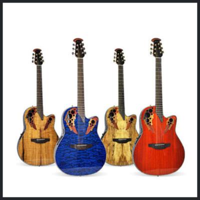 Ovation奧威遜CE44/44P/CE48/48P電箱民謠木吉他單板葡萄孔
