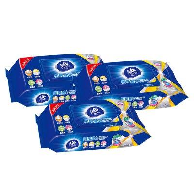 維達(Vinda) 廚房濕巾 抽取式廚房清潔用紙48片裝*3包 廚房用紙吸水吸油衛生抽紙巾(新舊包裝交替發貨)