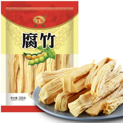 古松 腐竹200g 干货腐竹 手工制作豆制品 火锅涮菜 豆皮腐皮 二十年老品牌
