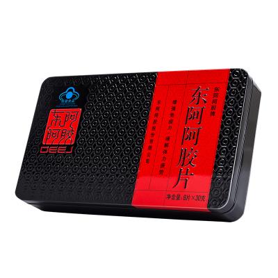 東阿阿膠(DEEJ)官方旗艦店 阿膠片 240g鐵盒裝阿膠塊熬制阿膠糕