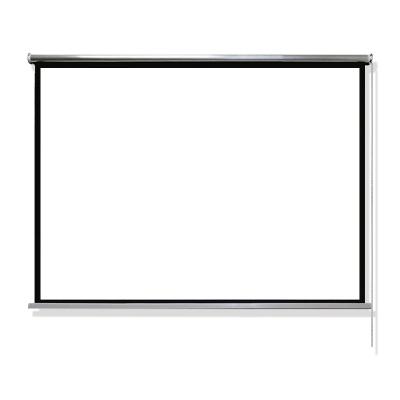 拓興簡易幕布壁掛幕布150寸便攜式投影儀高清幕布 白玻纖150英寸16:9手拉窗簾式幕布