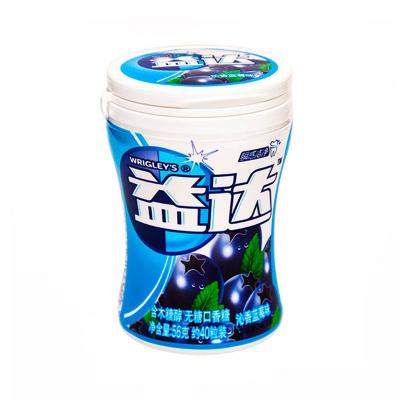 益达(Extra) 口香糖蓝莓味40粒56g