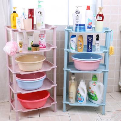 書香人嘉 加厚浴室置物架衛生間臉盆架洗手間儲物廁所洗澡收納架子三角落地