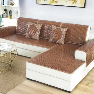夏季麻將涼席沙發墊夏天坐墊簡約現代客廳防滑竹沙發涼墊套子定做