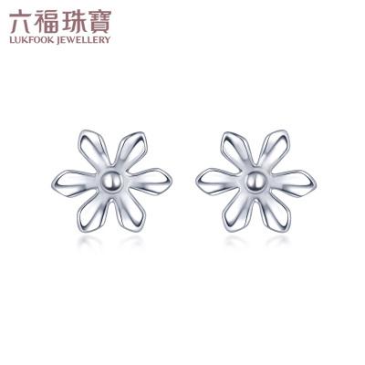 六福珠寶 Pt950太陽花鉑金耳釘耳飾 計價 HIPTBE0002