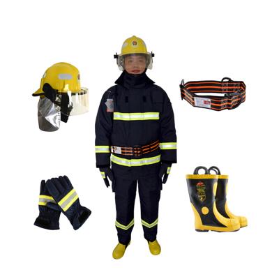 華通 3C認證消防服套裝14款消防員戰斗服 消防頭盔消防手套消防腰帶消防靴消防員防火服五件套(尺寸會電聯核對)