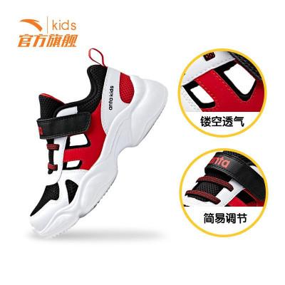 ANTA安踏童鞋男女童婴幼儿小童魔术贴小童鞋可内搭袜子2019年新款运动鞋A33929801
