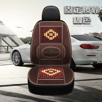 歐因汽車坐墊珠子夏季涼墊車用夏天透氣墊子通用座墊內飾