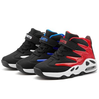 富贵鸟男童鞋秋冬新款加绒保暖儿童棉鞋皮面防水中大童跑步运动鞋