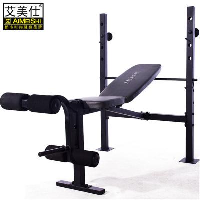 多功能舉重床杠鈴床套裝家用健身器材深蹲架艾美仕 臥推架舉重床+30kg+1.5杠桿