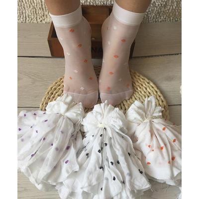 10雙裝兒童襪子女童白色薄款短襪夏季網眼透氣泡泡襪牛奶絲寶寶襪