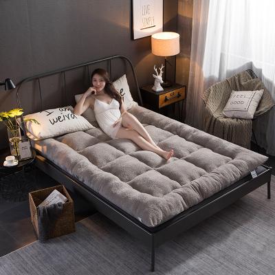 枳記家 加厚保暖羊羔絨床墊床褥子雙人1.8米單人0.9m宿舍榻榻米墊子清倉