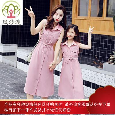 不一样的亲子装夏装潮母女装连衣裙网红洋气抖音沙滩长裙图片件数为展示