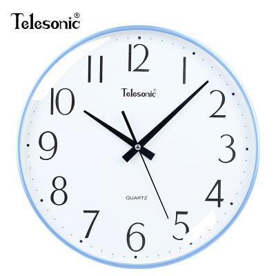 天王星(Telesonic)客廳掛鐘家用時尚現代簡約靜音臥室石英鐘表掛墻創意北歐藝術時鐘