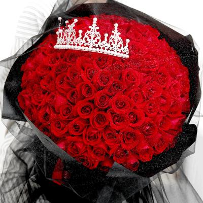 爱花居 99朵红玫瑰花鲜花速递情人节花束送女生全国花店同城送花全国配送成都合肥广州北京西安苏州常州南京深圳圣诞节平安夜