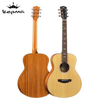 卡馬(KEPMA)FS36單板民謠旅行吉他 全新演奏款考級木吉他入門吉它jita啞光原木色36英寸