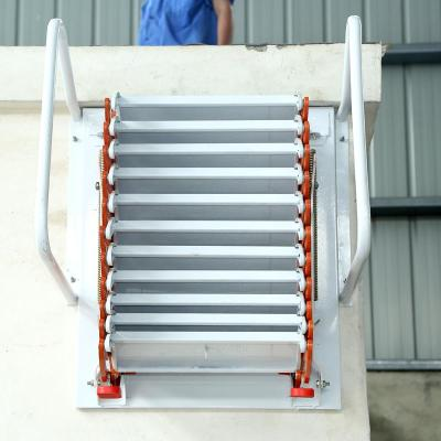 加厚壁掛式閣樓伸縮樓梯室內室外平臺復式家用折疊升降收縮拉伸梯 冷軋鋼2.3--2.6米