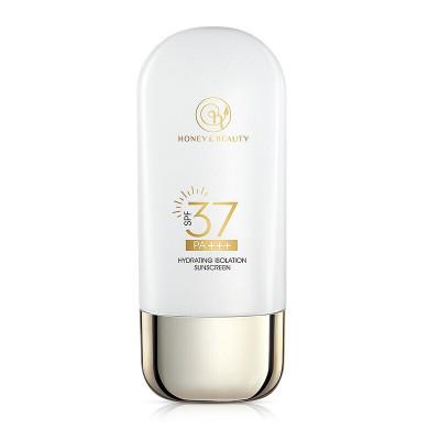 透蜜水感透氣防曬乳SPF37PA+++50g 防曬霜乳女清爽不油膩面部物理防紫外線全身隔離遮瑕三合一