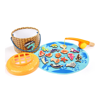 特寶兒(Topbright) 仿真垂釣游戲單人版 一歲半寶寶木制釣魚玩具磁性兒童益智玩具2周歲以上男女孩啟蒙120372