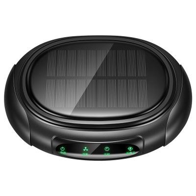 (神秘黑)ZHUAX汽車車載空氣凈化器負離子凈化汽車香薰太陽能車載空氣凈化器