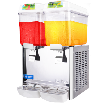 维思美12L冷热饮料机冷饮机现调搅拌喷淋式饮料机商用制冷双缸果汁机