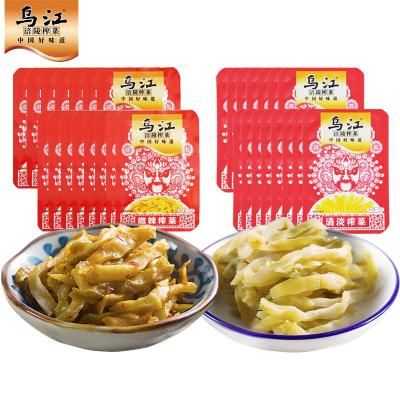 烏江涪陵榨菜15g小包裝微辣清淡榨菜量販裝組合30袋開味下飯菜