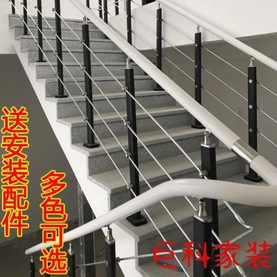 楼梯扶手栏杆护栏立柱阳台PVC简约现代室内家用实木阁楼简易别墅