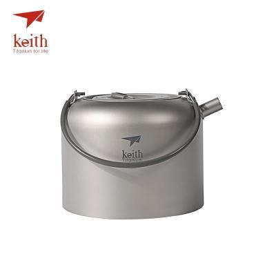 铠斯keith钛水壶户外烧水壶纯钛水壶户外烧水露营轻量钛水壶Ti3907 Ti3901