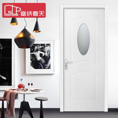 塞纳春天 木门室内套装门实木复合烤漆房门卧室门 型号135