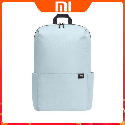 小米雙肩包小背包男女通用運動包日常休閑雙肩包學生書包旅行包淺綠色15L