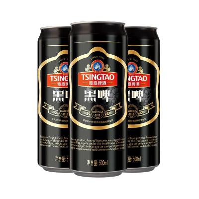 青島啤酒(TSINGTAO)黑啤12度 500ml*12罐 整箱裝 官方直營
