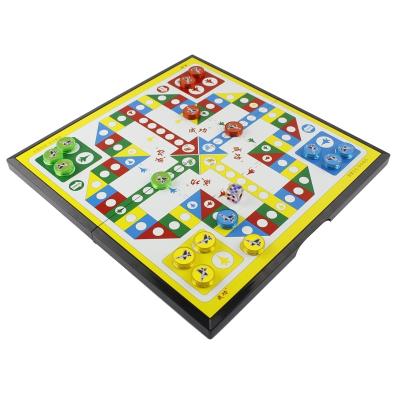 魅扣飞行棋磁性六一儿童节礼物小学生大号人家庭亲子生日飞机游戏棋 大号家庭款+2颗骰子+16个备用棋