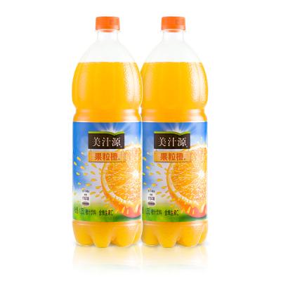 可口可樂 大瓶1.25L*2瓶 美汁源果粒橙可口可樂雪碧碳酸飲料美汁源果粒橙飲料夏季飲品 年貨果粒橙