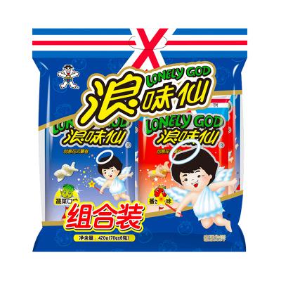 旺旺浪味仙420g组合装(蔬菜味70g*4包+番茄味70g*2包)