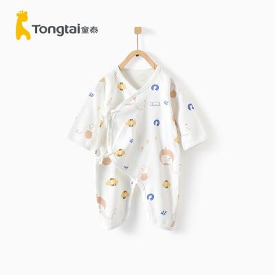 童泰(TONGTAI)2020年夏季新款嬰兒衣服0-6月新生兒純棉蝴蝶連體衣哈衣