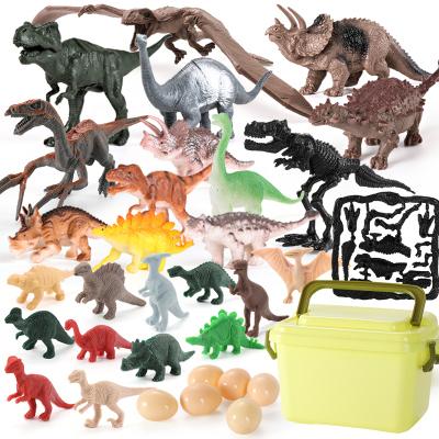 育儿宝儿童恐龙玩具 恐龙套装塑料动物模型霸王龙野生动物模型