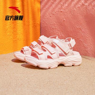 ANTA安踏凉鞋女仙女风2019夏季新款时尚软底厚底沙滩凉鞋ins外穿运动鞋92926991