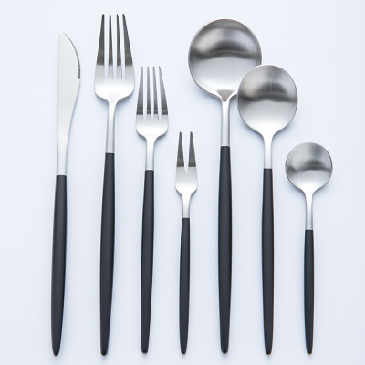 網紅刀叉勺子西餐牛排刀叉兩三件套裝304不銹鋼家用盤子餐具