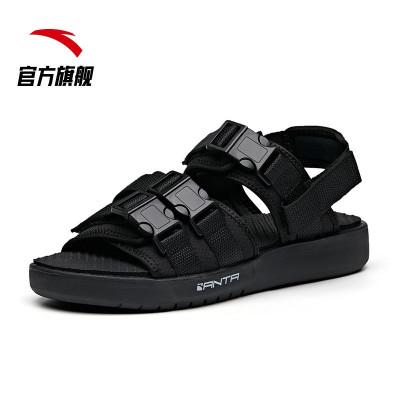 安踏官方旗艦店男鞋沙灘鞋涼鞋2020新品夏季運動鞋雪碧聯名款